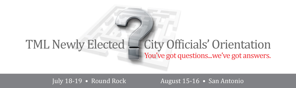 Newly Elected City Officials' Orientation